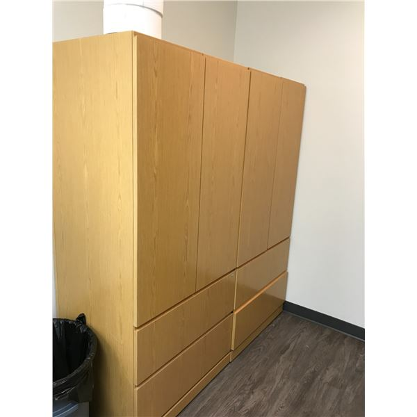 2 MAPLE 6' LATERAL FILE CLOSED DOOR STORAGE UNITS