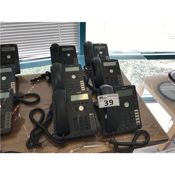 LOT OF 6 SNOM 7 SERIES VOIP PHONE HAND SETS