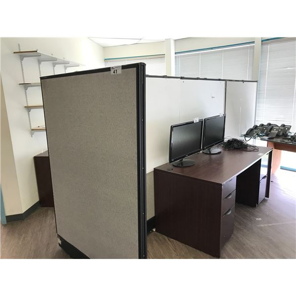 LOT OF 4 6 X 6' OFFICE PARTITIONS