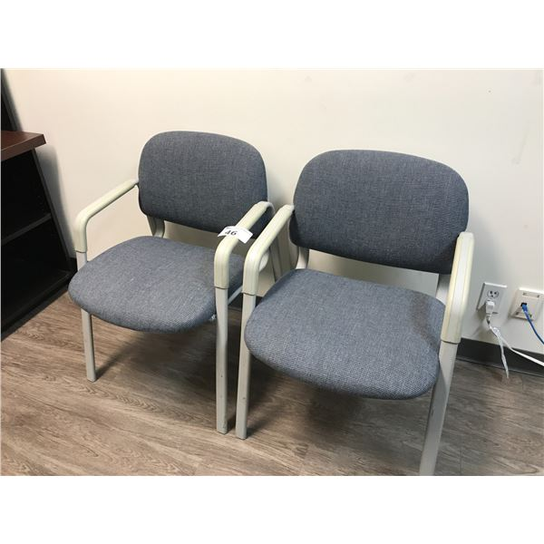 PAIR OF BLUE CLIENT CHAIRS