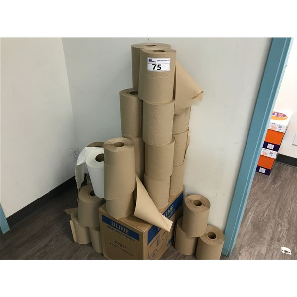 LARGE LOT OF ULINE ROLL TOWELS