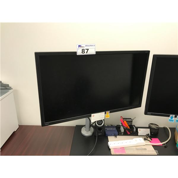 """BENQ 28"""" LCD MONITOR AND MONITOR STAND"""
