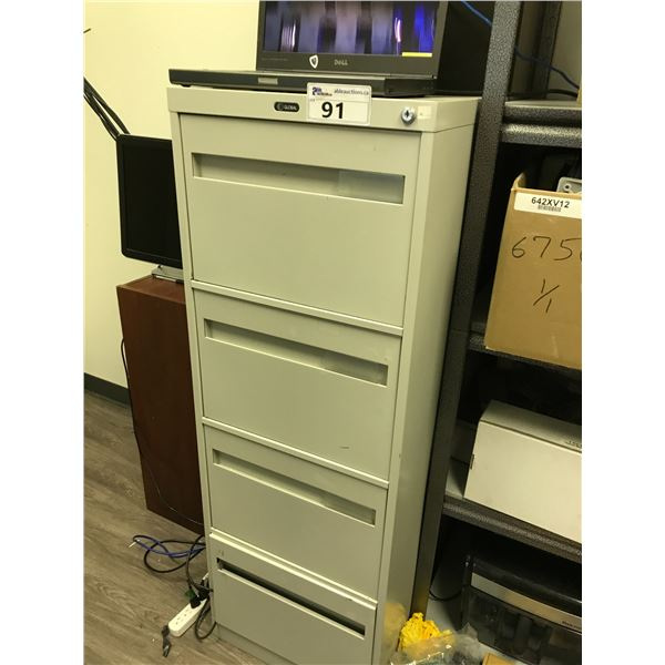 2 BEIGE 4 DRW. LEGAL VERTICAL FILE CABINETS AND CABLE CONTENTS