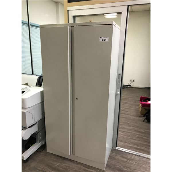 GREY 6' DOUBLE DOOR STORAGE CABINET