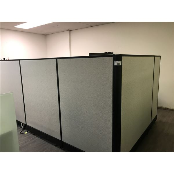 SIX 6' H FABRIC OFFICE PARTITIONS