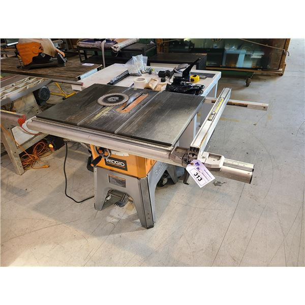 """RIGID R4512 MOBILE 10"""" TABLE SAW WITH 4 SAW BLADES"""
