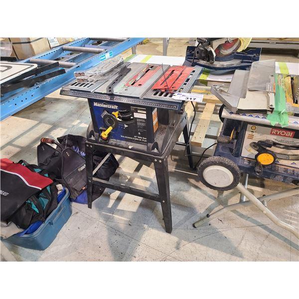 "MASTERCRAFT 055-6731-4 10"" TABLE SAW WITH 1 SAW BLADE"