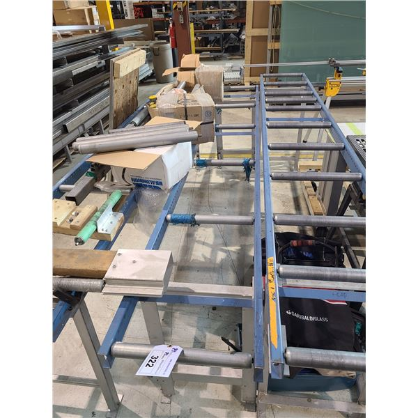 BLUE METAL 10' GRAVITY ROLLER PRODUCT CONVEYOR