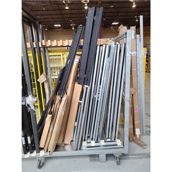 LOT OF ASSORTED SCREENS AND SCREEN DOOR FRAMES