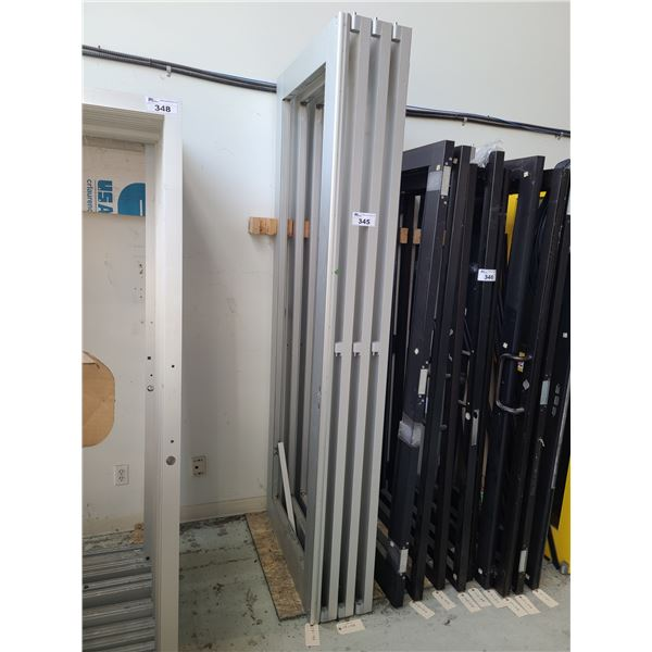 2 PAIRS OF ALUMINUM FRAME (NO GLASS) COMMERCIAL DOUBLE DOORS