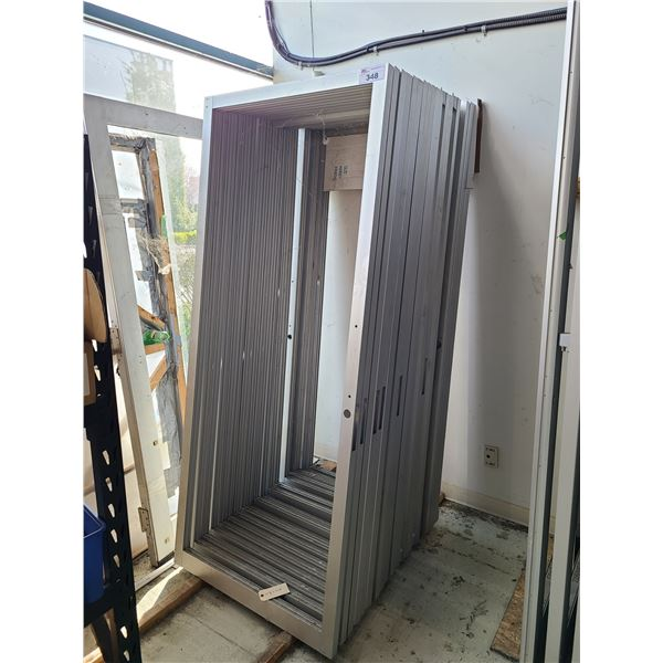 LOT OF 19 PREDRILLED ALUMINUM FRAME (NO GLASS) COMMERCIAL DOORS