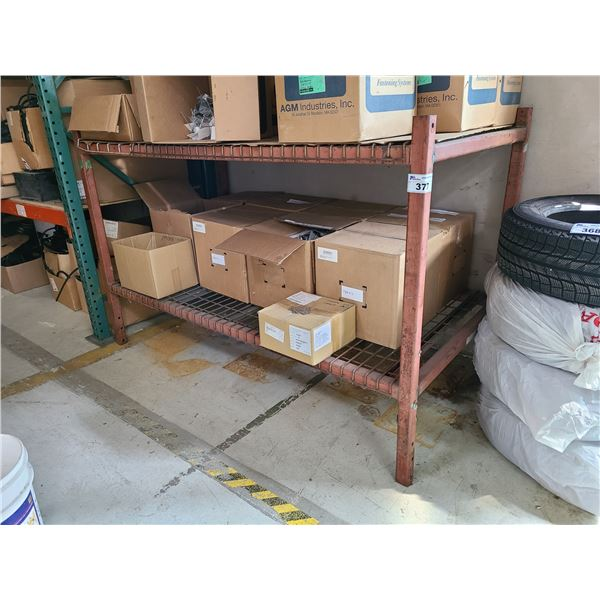 2 TIER HEAVY DUTY INDUSTRIAL METAL PRODUCT STORAGE RACK WITH MESH DECKING