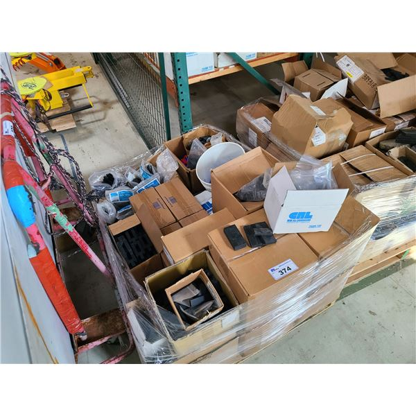 PALLET OF ASSORTED RUBBER AND PLASTIC SHIMS
