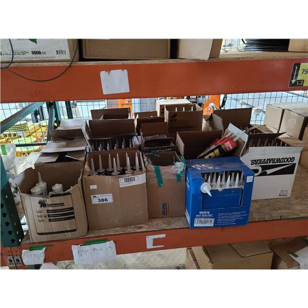 LOT OF ASSORTED INDUSTRIAL ADHESIVES AND SEALANTS