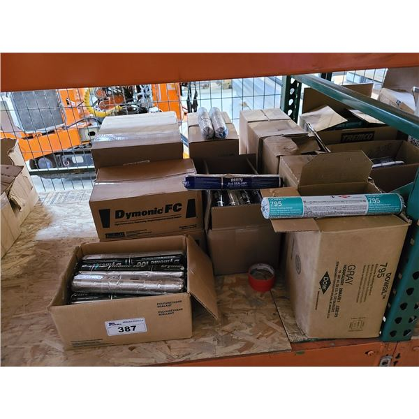 LOT OF ASSORTED INDUSTRIAL SEALANT TUBES