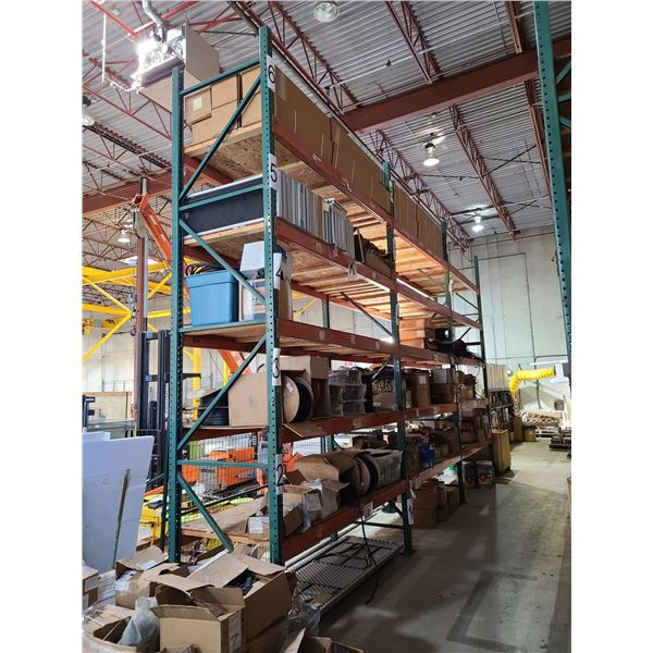 3 BAYS OF INDUSTRIAL HEAVY DUTY PALLET RACKING
