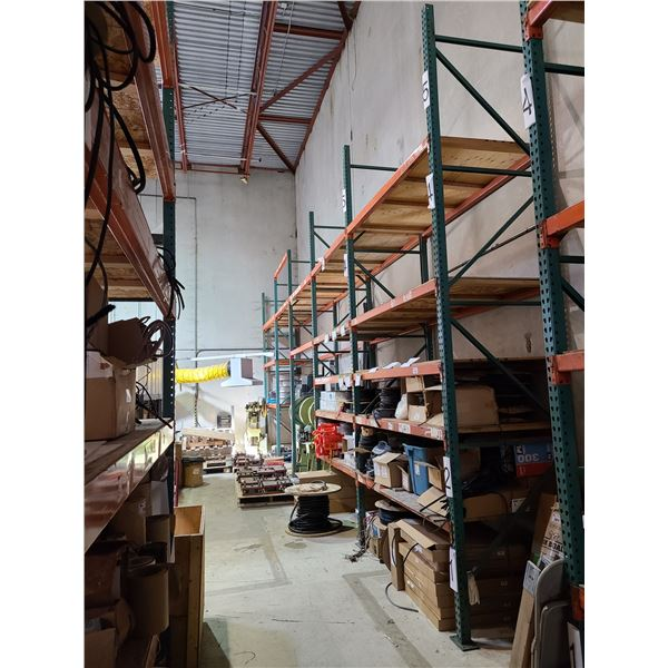 5 BAYS OF INDUSTRIAL HEAVY DUTY PALLET RACKING