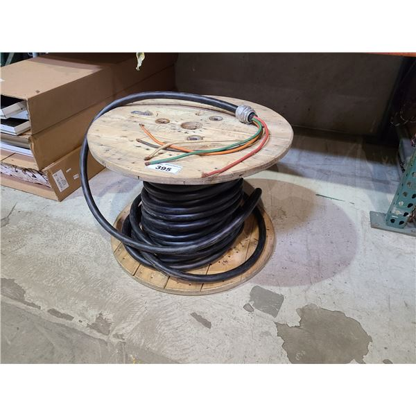 SPOOL OF 5 CONDUCTOR INDUSTRIAL CABLE