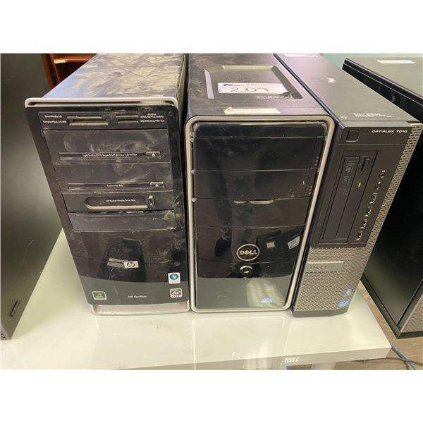 LOT OF 3 COMPUTERS, HDS REMOVED