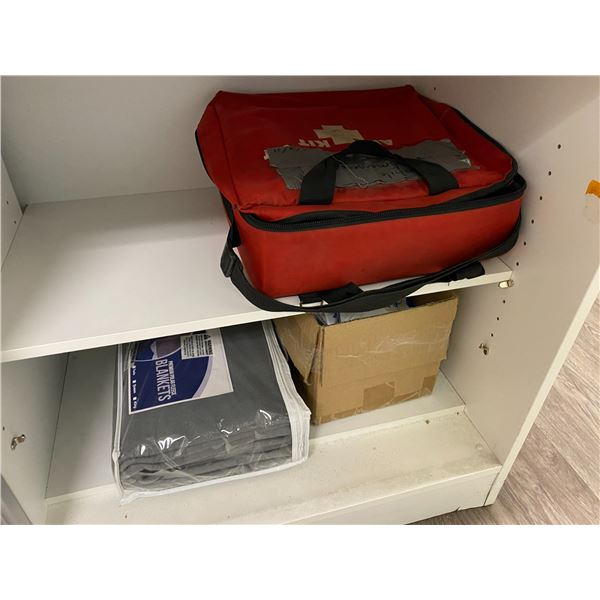 FIRST AID CABINET WITH CONTENTS
