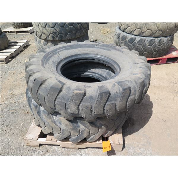 Qty 2 Power King 14.00-24 Tires