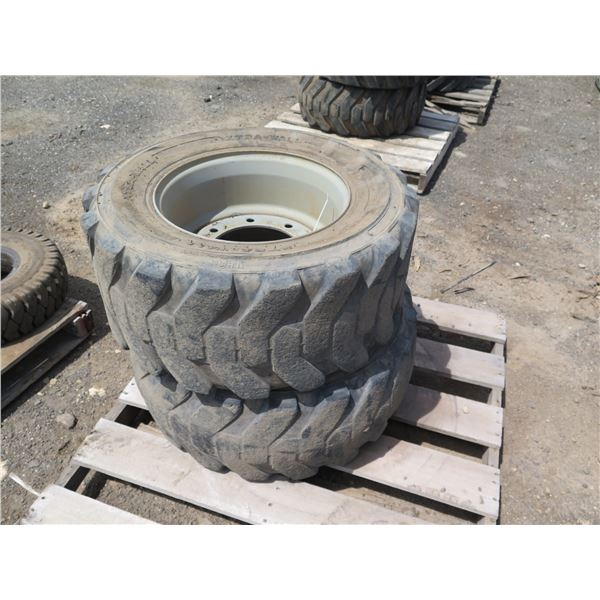 Qty 2 Xtra-Wall 12-16.5 Tires with Rims