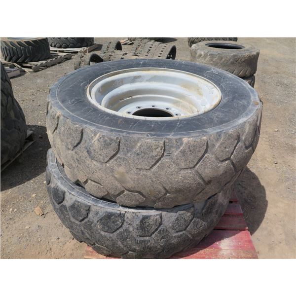 Qty 2 Firestone 400/75-28 Tires with Rims