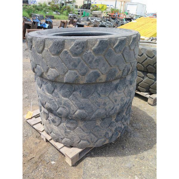 Qty 3 Firestone 370/75-28 Tires & 2 Rims
