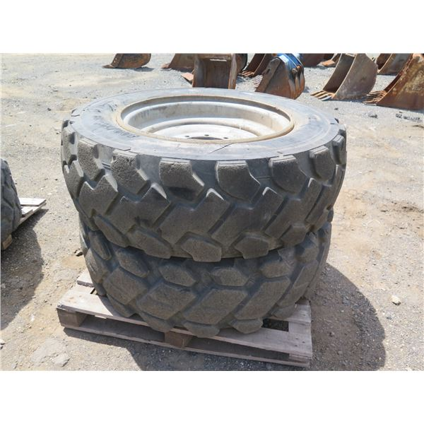 Qty 2 Tires with Rims, 400/75-28