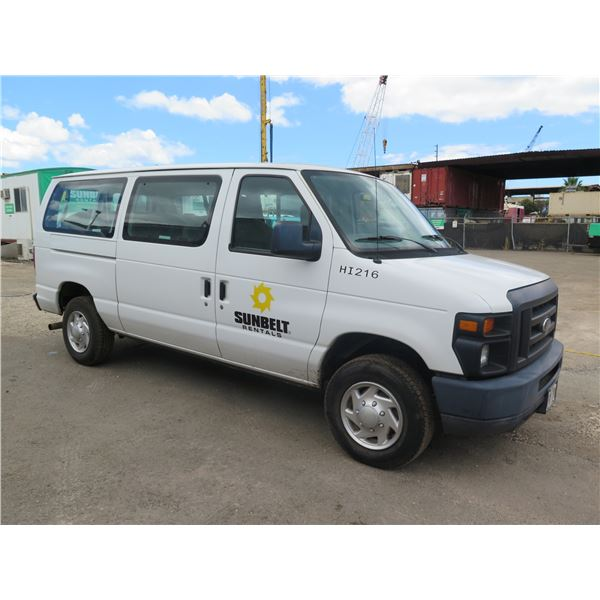 2012 Ford E350 Passenger Van-Lic ZGM 092 Starts & Runs  See Video  33,895 Miles