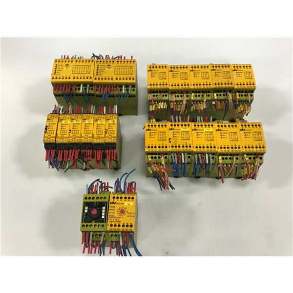 LOT OF PILZ SAFETY RELAY *PART #'S PICTURED*
