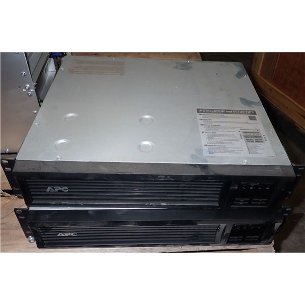 (2) APC #SMT750RM2U UPS Uninterruptible Power Supply