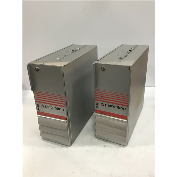 (2) PERCEPTRON / SIEMENS 6BK1800-5PE00-0AA0 INDUSTRIAL PC