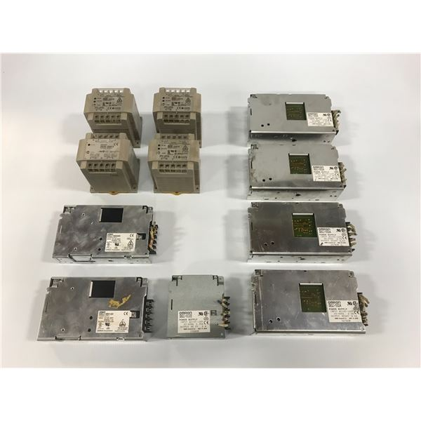 LOT OF OMRON POWER SUPPLYS *PART #'S PICTURED*