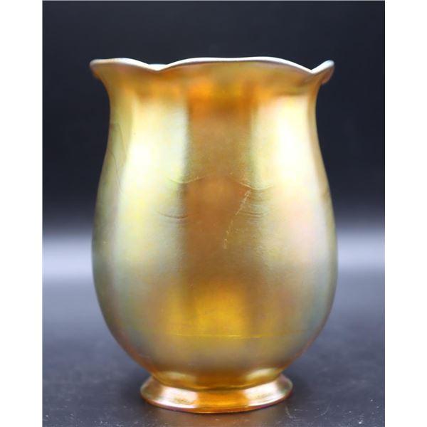 Steuben Gold Aurene Shade