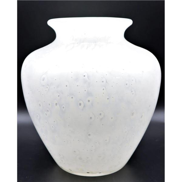 Steuben White Cluthra Vase