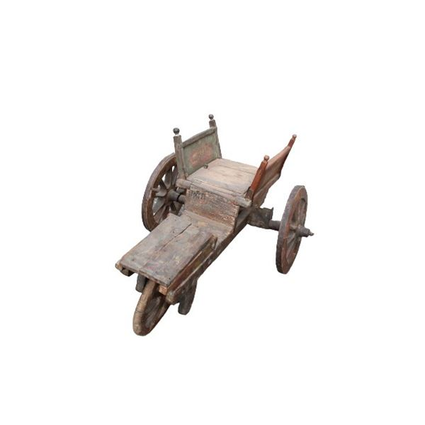 Antique Wood Rustic Wheelbarrow / Wagon