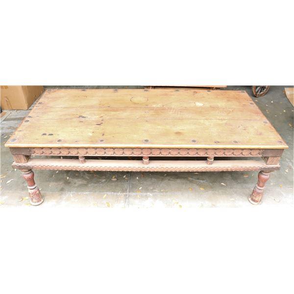 19th C Teakwood Takhat/Prayer Table from Gujarat