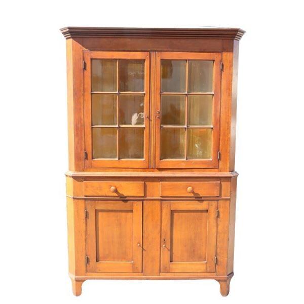 19th Century Maple Corner Cabinet