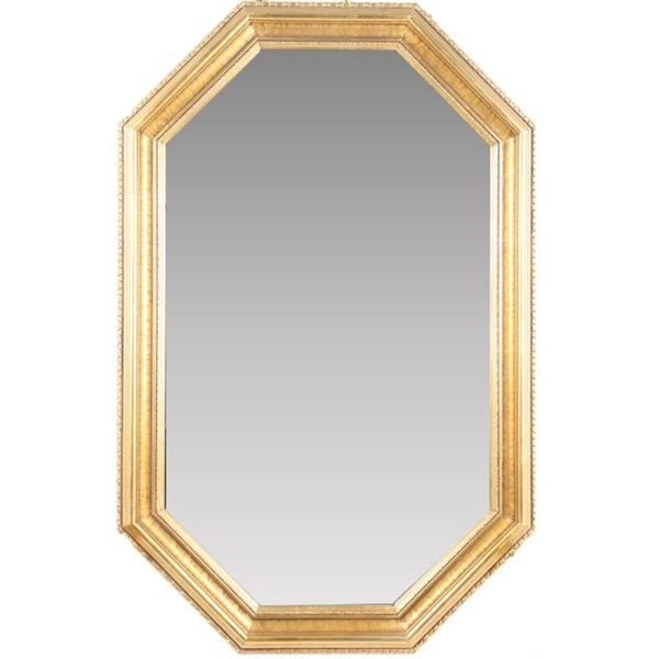 Octagonal Gilt Wall Mirror