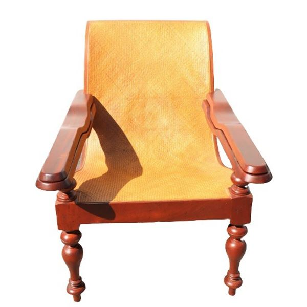 20th C Anglo Indian Plantation Lounge Chair