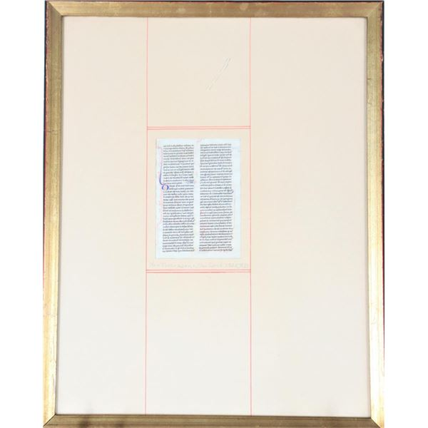 Illuminated Manuscript Mss Leaf