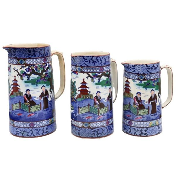 (3) Kent - Ye Olde Foley, Porcelain Pitchers