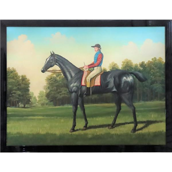 Large Equestrian Giclee on Canvas