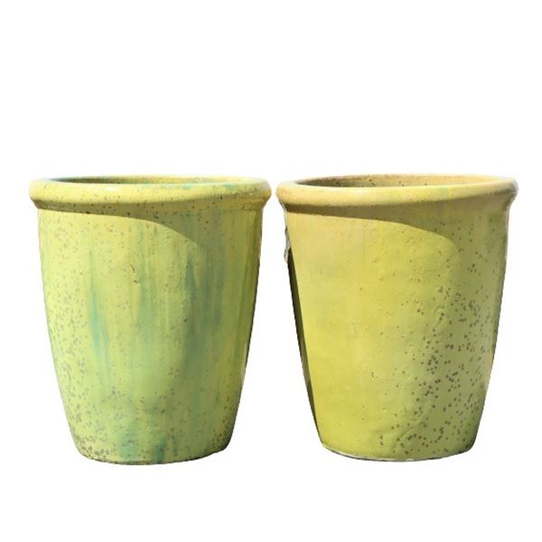 Pair of Outdoor Ceramic Planters