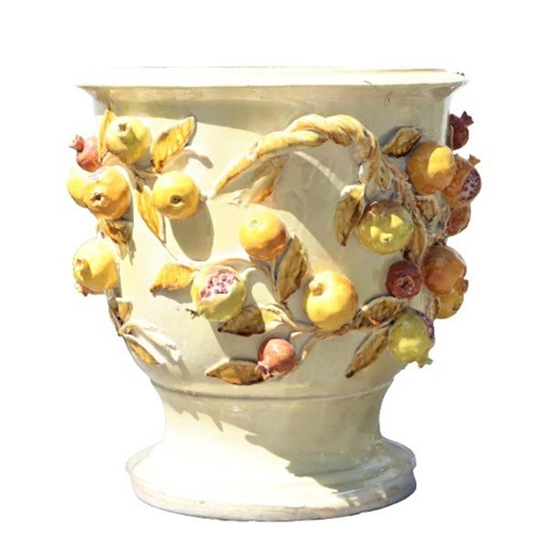 Italian Ceramic Pomegranate Ltd Ed Planter
