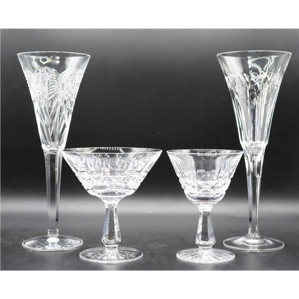 (13) Assortment of Waterford Crystal Glasses