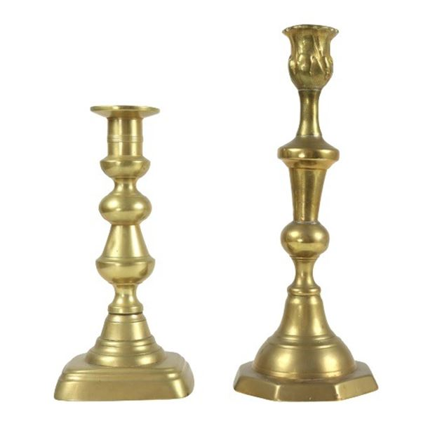 (2) Brass Candlesticks