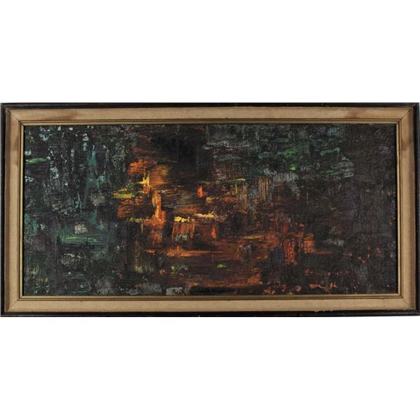 Modern Abstract, Oil on Canvas, Signed