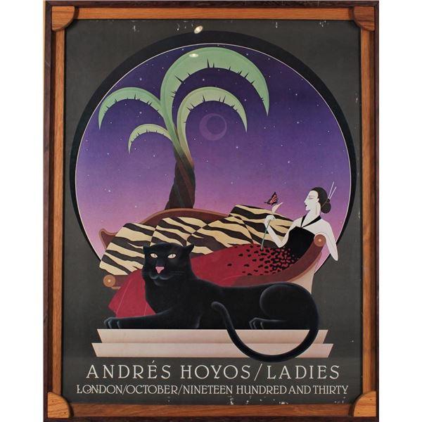 "Adres Hoyos Poster ""Ladies"", Custom Frame"